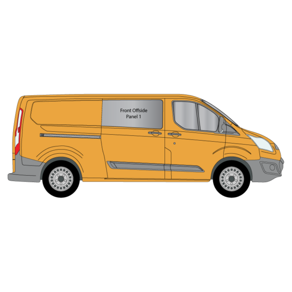 Cheshire-Vehicle-Aluminium-Windows - Ford-Transit-Custom - LWB - 2014 - Offside - Panel-1