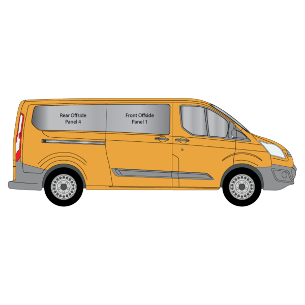 Cheshire-Vehicle-Aluminium-Windows - Ford-Transit-Custom - LWB - 2014 - Offside - Panel-1-and-4