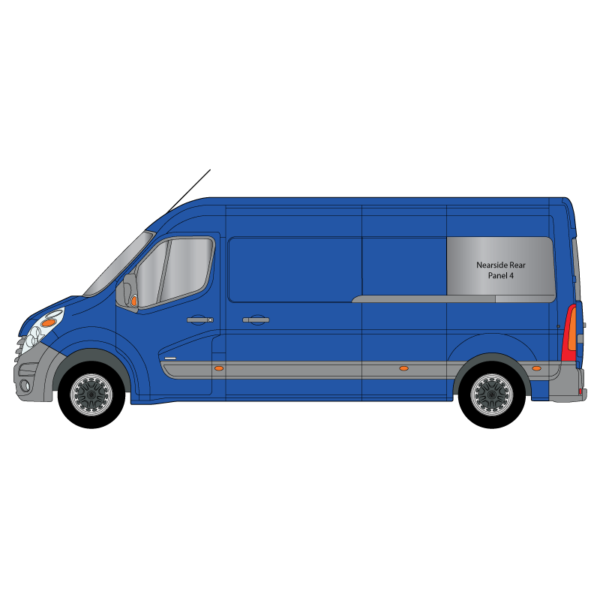Cheshire-Vehicle-Aluminium-Windows - Renault-Master-2014-L3WB-Nearside-NS - Rear-Panel-4