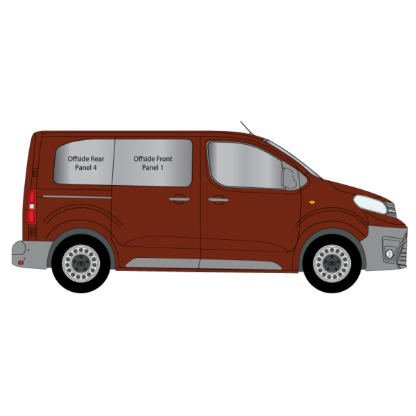 Cheshire-Vehicle-Glass-Conversion-Windows-Toyota-Proace-2017-Compact-Offside-Panel-1-and-4