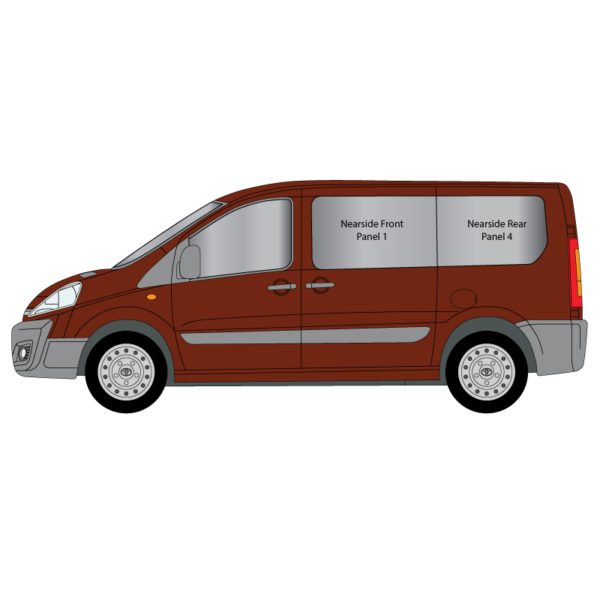 Cheshire-Vehicle-Glass-Conversion-Windows--Toyota-Proace-2017-Nearside-Panel-1-and-4